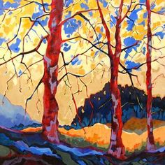 contemporary landscape tree painting by Carolee Clark