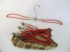 Vintage Folding Hangers for Travel in Plaid by UrbanRenewalDesigns, $23.99
