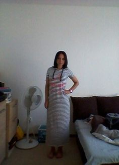Kup mój przedmiot na #vintedpl http://www.vinted.pl/damska-odziez/dlugie-sukienki/10031519-szara-dluga-sukienka-w-paski