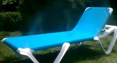 Another Mista product that keeps you cool and moist while you tan or just enjoy some outside fun. This misting lounge chair has a total of 8 misters which are zone controllable so you only get the Mista spray where you want it. Made with SunBrella fabric, the industry's best fabric which will last for years.    Misting Spray Lounge Chair is the perfect way to beat the heat of the sun, without having to get in the pool to cool down.  http://www.propools.com/mista/misting-lounge-chair.php