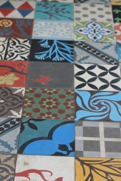Mismatched tiles - the conservatory floor?