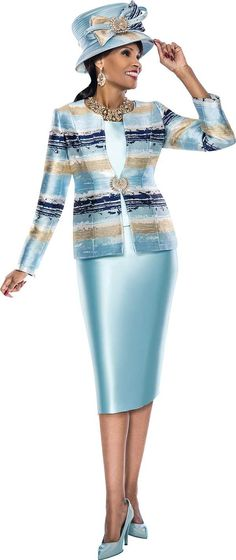 Skirt Suits For Church By Susanna For Spring 2018 - Susanna, Skirt Suits For Church, Church Suits, Spring Skirt Suits, ExpressURWay Curvy Girl Fashion, Royal Fashion, Fashion Wear, Fashion Outfits, Church Attire, Church Outfits, Women Church Suits, Suits For Women, Karl Lagerfeld