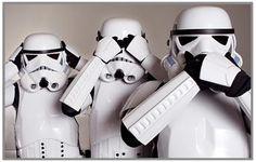 ''Storm Troopers - Hear no evil, see no evil, speak no evil'' (Star Wars) Star Wars Lego, Star Trek, Star Wars Art, Starwars, Mea Maxima Culpa, Legos, Stormtroopers, Lego Stormtrooper, Star Wars
