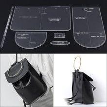 Dama bolsa de hombro mochila patrón de diseño de modelo molde DIY cuero manual de edición acrílico placa de acrílico plantilla 18x25x13,5 cm