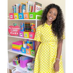 """This upcoming school year I will officially be teaching Pre K 4 VIRTUALLY! The first thing on my to-do list was to find a place in my home to make into my """"classroom"""" and get organized. Thanks to @Lakeshorelearning, I was able to organize all of my learning tools I will need for virtual school with the Neon Connect & Store Book Bins. They are the perfect size for books and all of my teaching supplies. @ms.campbell.teach The New School, New School Year, Book Bins, Teaching Supplies, Back To School Essentials, Learning Tools, Getting Organized, Classroom, Ms"""