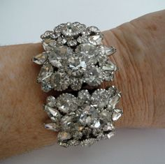 Vintage Juliana Clamper Bridal Bracelet by AlexiBlackwellBridal, $195.00