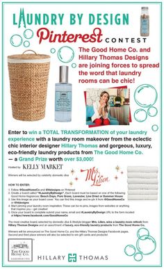 The most creative board will be selected by domestic diva & lifestyle blogger Mrs. Lilien and announced on The Good Home Co. and Hillary Thomas Facebook pages.