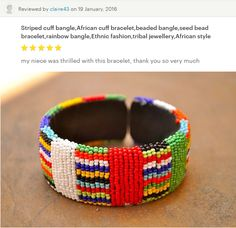 Beaded jewellery from Cape Town, South Africa by akwaabaAfrica Seed Bead Bracelets, Seed Beads, Ethnic Fashion, African Fashion, Tribal Jewelry, Beaded Jewelry, Style Me, Etsy Seller, Shops