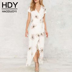 Aliexpress.com: Compre HDY Haoduoyi 2016 Mulheres da Cópia Floral Sexy Praia…