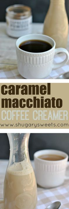 Homemade coffee creamer is easier to make than you think! Plus, you can pronounce all the ingredients! Caramel Macchiato Coffee Creamer is DELICIOUS.