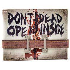The unique Wallet Don't Open Dead Inside Walking Dead Inscription  -