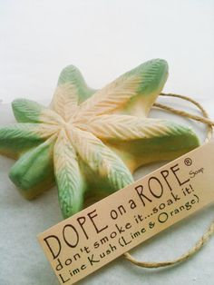 FOR MY SISTER WIFE!    HOT GIFT  Dope on a Rope Soap  Lime Kush  Hemp by DopeOnARopeSoap, $4.99