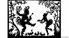 """Lotte Reiniger Reiniger papageno papagena: Szenenfoto aus Lotte Reinigers Film """"Papageno"""" Stadtmuseum Tübingen Schriftliche Freigabe hiermit von mir erteilt. Kurt Schneider"""
