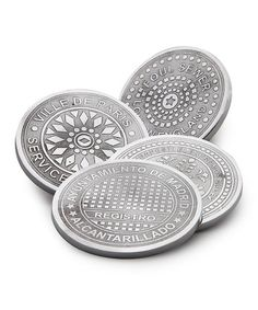 Loving this European Cities Manhole Cover Coaster - Set of Four on #zulily! #zulilyfinds