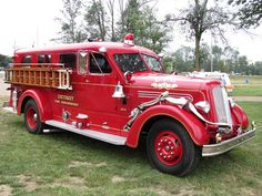 Former fire truck of the Detroit, MI Fire Department.This one may have still been in service and hard at work around the time of the 1967 Detroit riots. Fire Dept, Fire Department, Cool Fire, Fire Equipment, Rescue Vehicles, Truck Engine, Automobile, Fire Apparatus, Emergency Vehicles