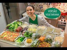 Como organizar almoços saudáveis para semana toda em 2 horas Bento Recipes, Veggie Recipes, Healthy Recipes, Batch Cooking, Easy Cooking, Menu Dieta, Good Food, Yummy Food, Clean Recipes