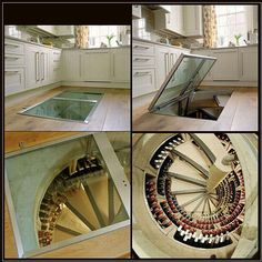 Yes! My dream home has a secret door that leads to a wine cellar of awesomeness.