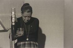 Billie Holiday, recording studio, New York, 1959 Photo by Milt Hinton. Copyright Milton J. Hinton Photographic Collection.