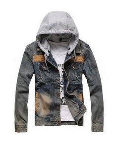 awesome Men Denim Hoodie Motorcycle Jacket Hooded Jean Coat - For Sale Check more at http://shipperscentral.com/wp/product/men-denim-hoodie-motorcycle-jacket-hooded-jean-coat-for-sale/