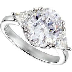 Crislu Ring, Platinum Over Sterling Silver Solitaire Cubic Zirconia