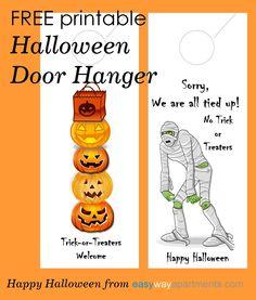 FREE printable Halloween Door Hanger For Your Apartment Community