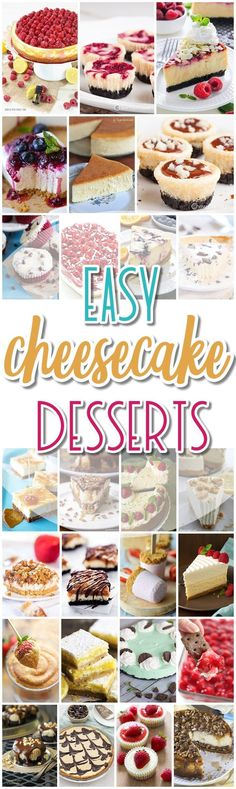 The BEST Cheesecake Recipes – Favorite Easy Party Desserts The BEST Cheesecakes Recipes - Favorite Easy Party Desserts for Easter, Mother's Day Brunch or any celebration - Dreaming in DIY Brownie Desserts, Mini Desserts, Desserts Menu, Delicious Desserts, Dessert Recipes, Sour Cream Cheesecake, Best Cheesecake, Homemade Cheesecake, Easy Cheesecake Recipes