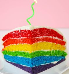 Rainbow-Layer-cake- boxed mix and cream cheese version