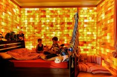 Himalayan Salt Childrens Bedroom- The use of Himalayan Salt is growing worldwide and is already featured in various forms at hotels, restaurants and resorts around the world. Many individuals even have salt walls or rooms in their homes, as it is reputed to treat various skin conditions, as well as respiratory ailments such as Asthma and Allergies. Studies by Columbia University now suggest that negative ions can help relieve depression.