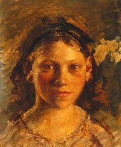 Head Of A Girl, Henry Tonks (1862 – 1937, English) I AM CHILD-children in art history blog