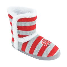 Women's Georgia Bulldogs ... Striped Boot Slippers cheapest price sale online s3J8h