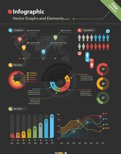 Ressources – Un super kit de vectors pour vos infographies !