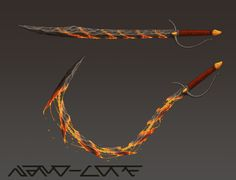 Lavastone Whip Sword Commission by Nano-Core on DeviantArt Anime Weapons, Sci Fi Weapons, Weapon Concept Art, Armor Concept, Fantasy Sword, Fantasy Armor, Fantasy Weapons, Armes Futures, Whip Sword