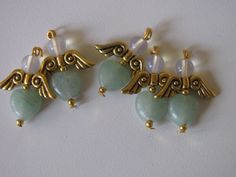 lucky angel made of amazonite and opalite