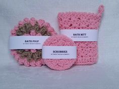 Excited to share the latest addition to my #etsy shop: Spa Set Pink Sponge set Bath pouf Bath mitt Scrubbies Gifts for her Birthday Gift Box Bridesmaid spa set Gifts for mom Natural cotton jute #spaset #pink #spongeset #bathpouf #bathmitt #scrubbies #giftforher http://etsy.me/2iIojGg
