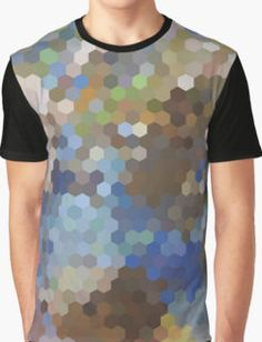 Abstraction #100 Blue hexagons  Graphic T-Shirt