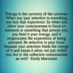 Energy is the currency of the Universe ❤️☀️