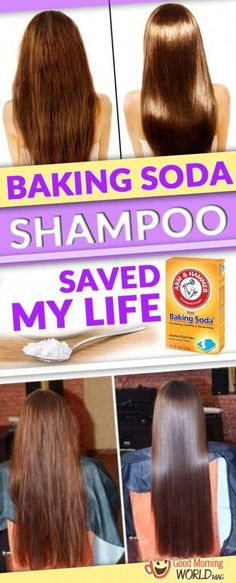 Try this homemade Shampoo recipe with Baking Soda and Vinegar for hair for shiny and silky smooth hairs! Diy Shampoo, Baking Soda Dry Shampoo, Baking Soda For Skin, Baking Soda For Dandruff, Baking Soda And Honey, Honey Shampoo, Clarifying Shampoo, Baking Soda Water, Grow Hair