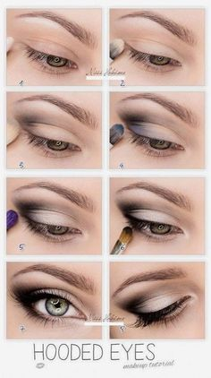 Hooded Eyes Makeup Tutorial @Hollie Baker Kaitoula Tou Rodolfou Maslarova #Makeup #Beauty Where to buy Real Techniques brushes makeup -$10 http://youtu.be/6T4khkxlZgo #realtechniques #realtechniquesbrushes #makeup #makeupbrushes #makeupartist