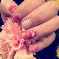 """""""In love with all the new Jams in the new Spring Jamberry catalog! NAILS FOR DAYS! #islandenergyjn #whitestripejn #rosyquatrefoil #serendiptyjn"""""""