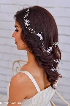 Flower crown Wedding tiara Bridal hair piece Wedding hair vine