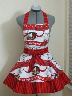 The Grinch Apron Sexy Double Full of Flounce by ApronsByVittoria, $44.00