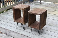 Hey, I found this really awesome Etsy listing at https://www.etsy.com/listing/233472414/pair-of-end-tables-side-tables-reclaimed