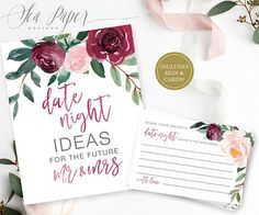 c2be4b2a373 Date Night Ideas Sign and Cards