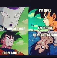 DBZ abridged. Omg Team Four Star rocks .U have to watch their comedic version of DBZ .Its just plain Brilliant