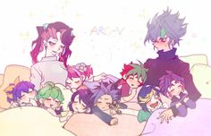 Serena, Ray, Rin, Ruri, Yuzu, Yuto, Yuya, Zarc, Yugo and Yuri