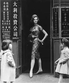 """Model Marola Witt """"Suzy Perette"""" dress Sets a Style U. Takes Over the Cheongsam From Hong Kong,"""" 1960 Photo Stan Wayman Model Marola Witt """"Suzy Perette"""" dress Sets a Style U. Takes Over the Cheongsam From Hong Kong,"""" 1960 Photo Stan Wayman Cheongsam, Vintage Photographs, Vintage Photos, 1960s Fashion, Vintage Fashion, Hong Kong Fashion, Old Shanghai, Chinese Style, Chinese Fashion"""