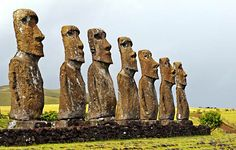 Easter Island.  Could I travel that far just to see this? mmmm IDK.  Where else can you travel to see this too?
