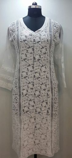 Other Women's Clothing New Indian Lucknawi Chikankari Georgette Multi Color Kurti Ethnic Eid Wear Kurta 2019 Latest Style Online Sale 50% Clothing, Shoes & Accessories
