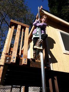 Every Treehouse Should Have A Fireman S Pole Tree
