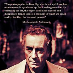 Film Director Quote -  Michelangelo Antonioni      Movie Director Quote      #michelangeloantonioni
